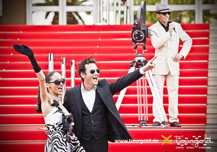 Filmfestspiele in Cannes mit rotem Teppich