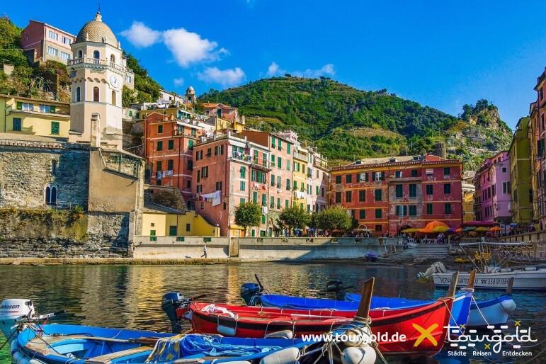 Busreise Italien Genua Cinque Terre Boote