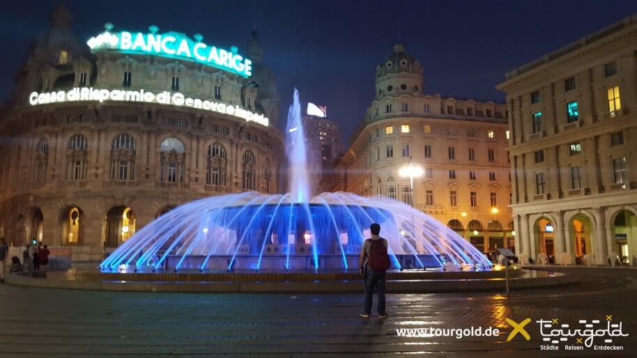 Busreise Ligurien Genua Piazza de Ferrari