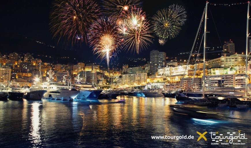 Monaco Feuerwerk an Silvester