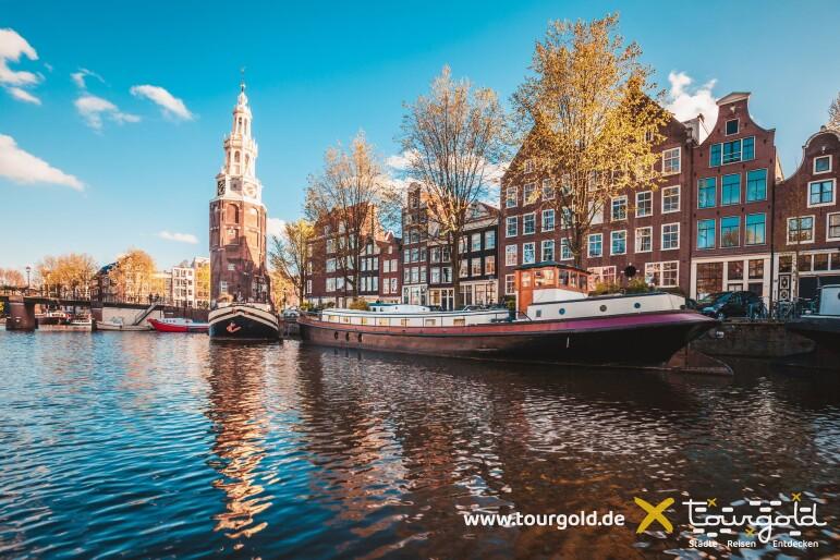 Amsterdam Grachten im Sommer